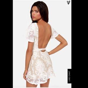 For Love And Lemons Dresses - FOR LOVE & LEMONS BACKLESS IVORY LACE DRESS Small